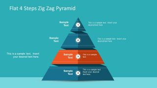 Pyramid Diagram 4 Steps Template