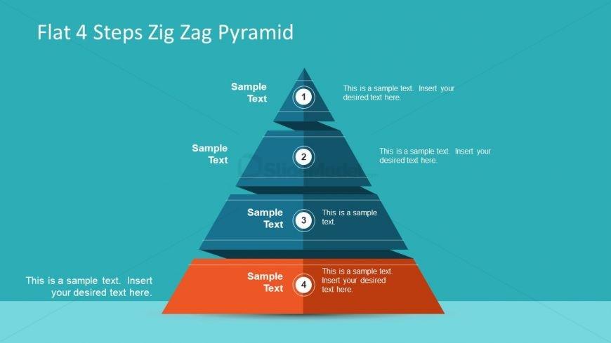 Pyramid Diagram ZigZag Template
