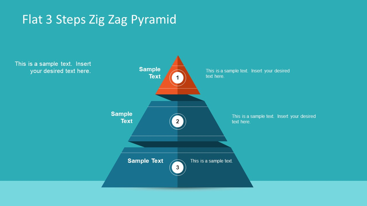 Slide of 3 Steps Pyramid Diagram