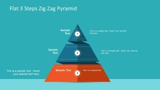 Pyramid Diagram ZigZag Flat Design
