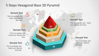 5 Steps Hexagonal Base 3D Pyramid