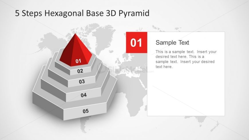 Pyramid Head Shape Hexagonal Slide