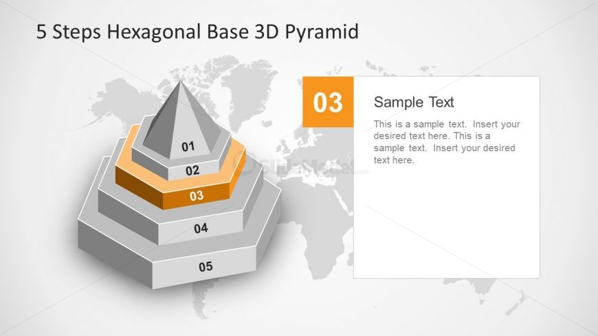 3D Pyramid Diagram Stages
