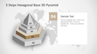 5 Step Hexagonal Base PowerPoint