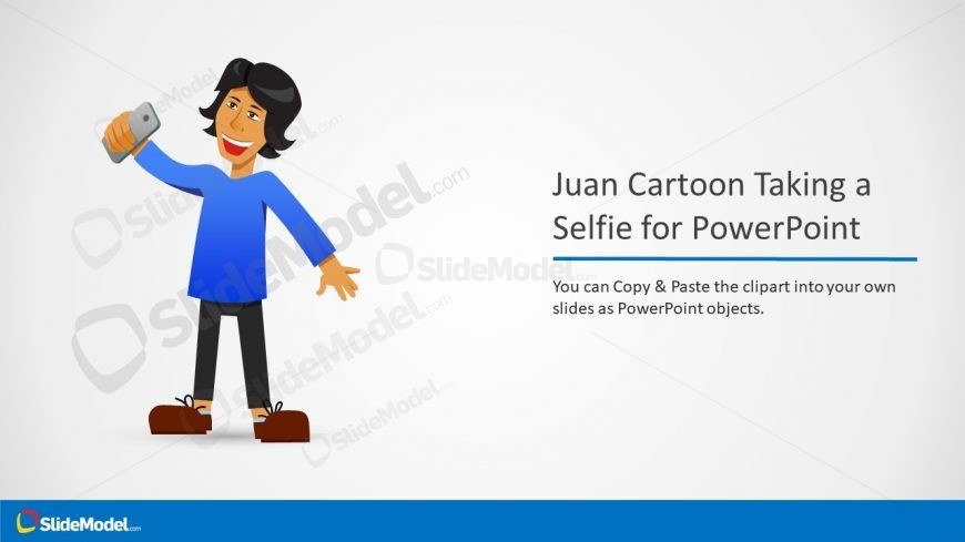 juan cartoon selfie clipart template slidemodel