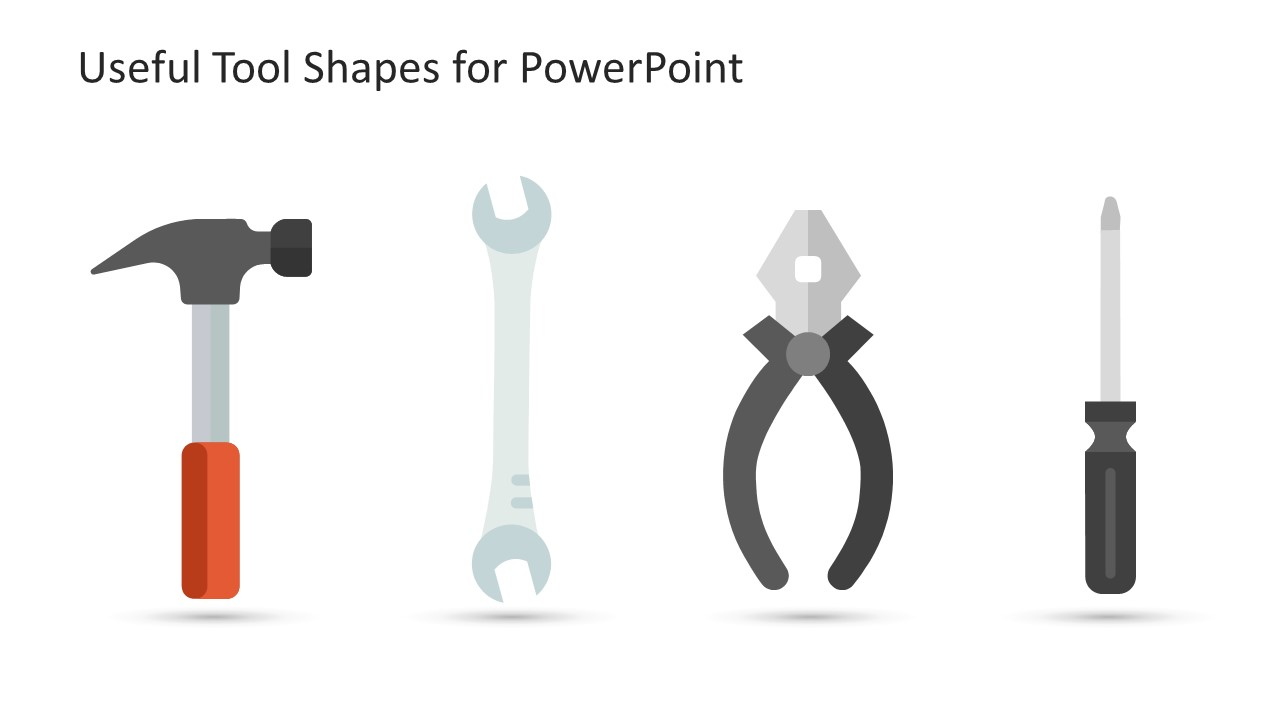 PowerPoint Icons Clipart Tools Slide