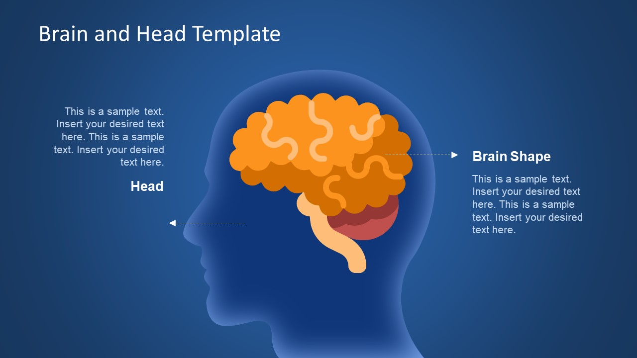 Brain Head Graphics Powerpoint Template Slidemodel