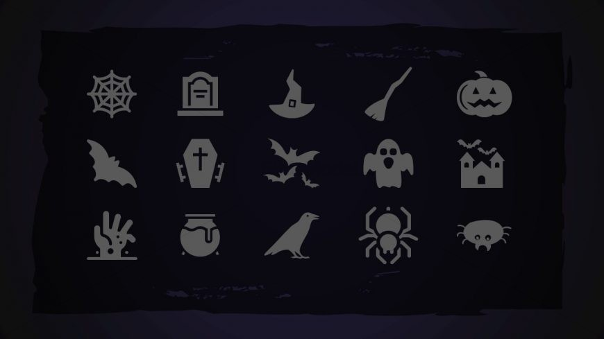 Halloween Theme PowerPoint Icons