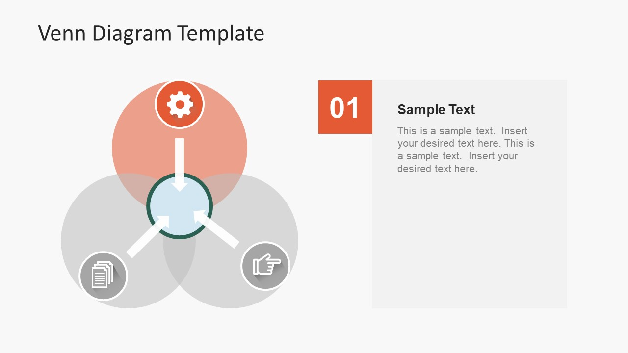 simple flat venn diagram powerpoint template slidemodel