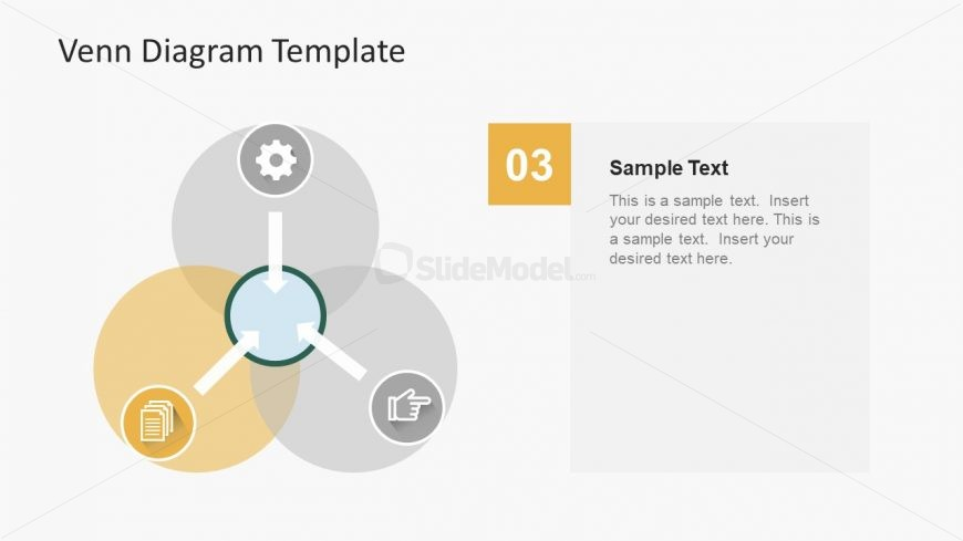 Simple Design Of Venn Diagram Template Slidemodel