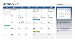 PowerPoint Calendar Template Year 2018