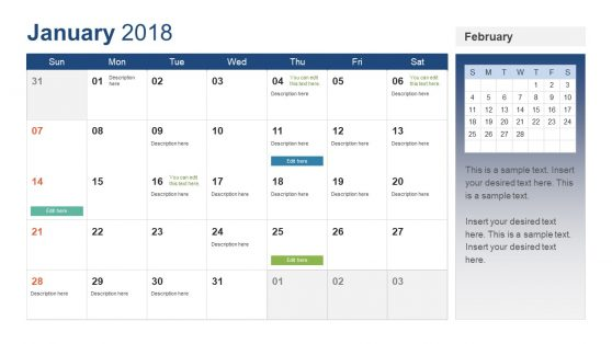 Week Calendar Powerpoint Templates