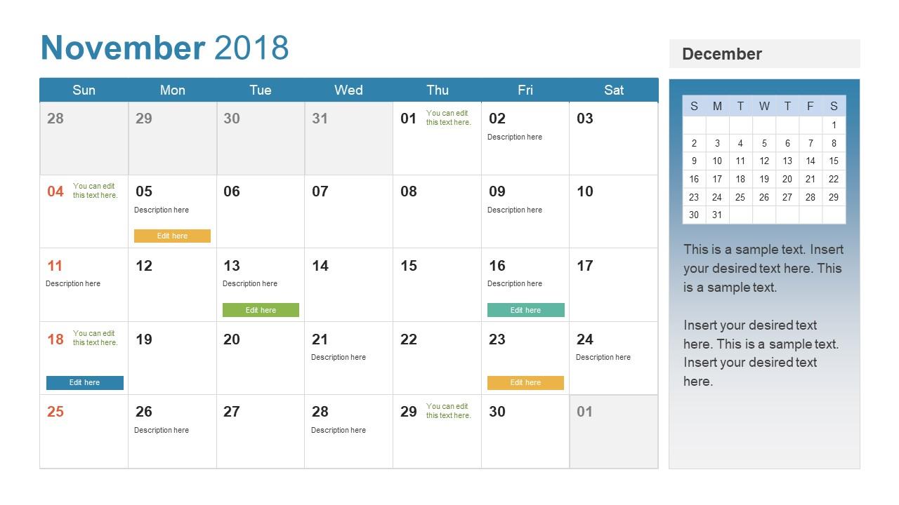 Calendar Templates Powerpoint : Powerpoint calendar template year slidemodel