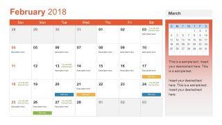 February Calendar Slide of PowerPoint