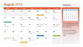Multi Purpose August Calendar Slide