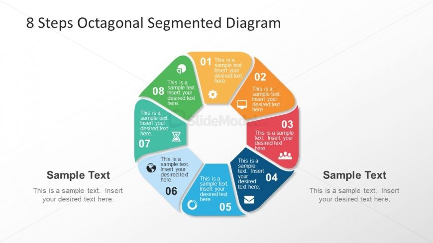 Infographic Template of 8 Steps Octagonal