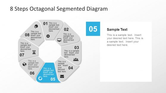 Geometric Octagonal Diagram PowerPoint