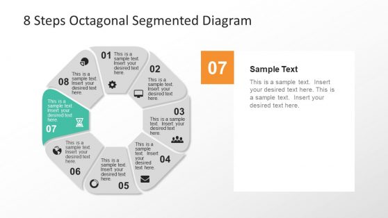 8 Steps Segmented Presentation Slide