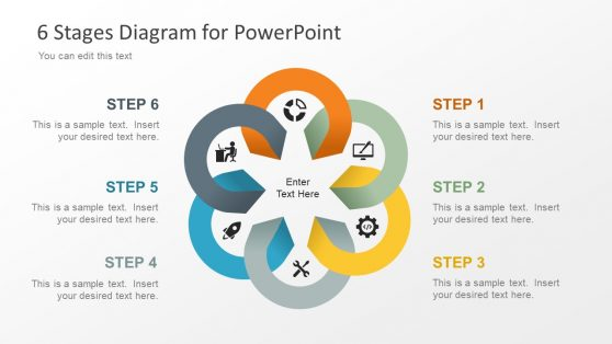 Infographic PowerPoint of 6 Steps