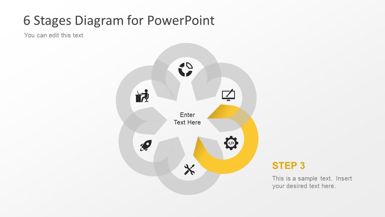 Flower Design PowerPoint Diagram