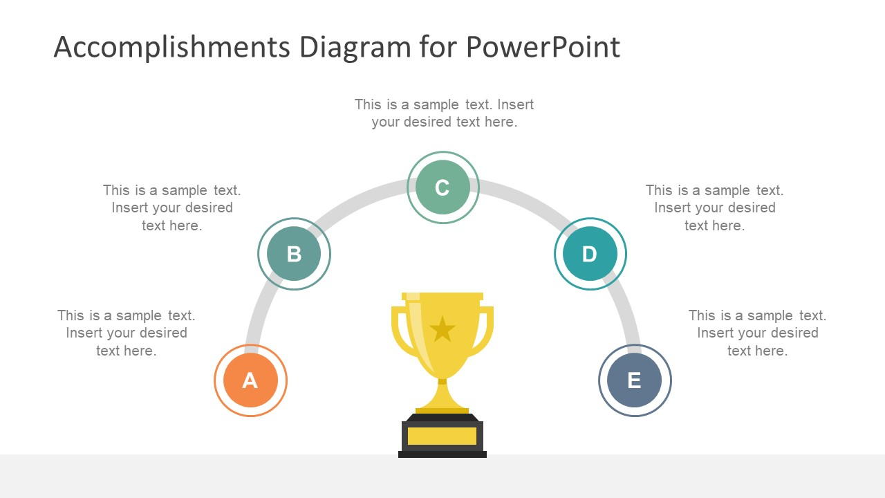 Accomplishments diagram for powerpoint slidemodel for Powerpoint theme vs template