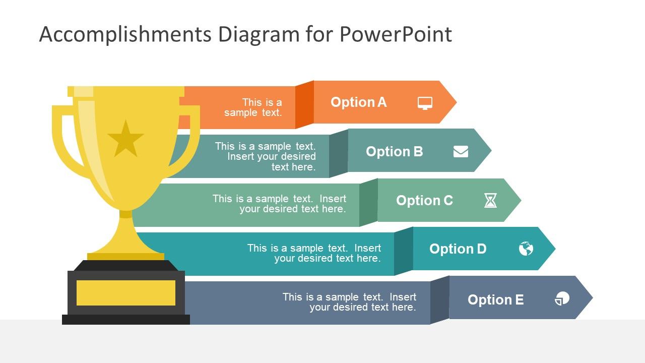 accomplishments diagram for powerpoint slidemodel