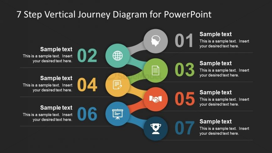 Background of 7 Step Journey Presentation