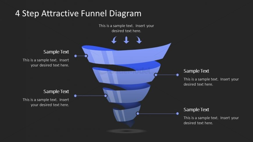 Attractive Background of Funnel Model Template