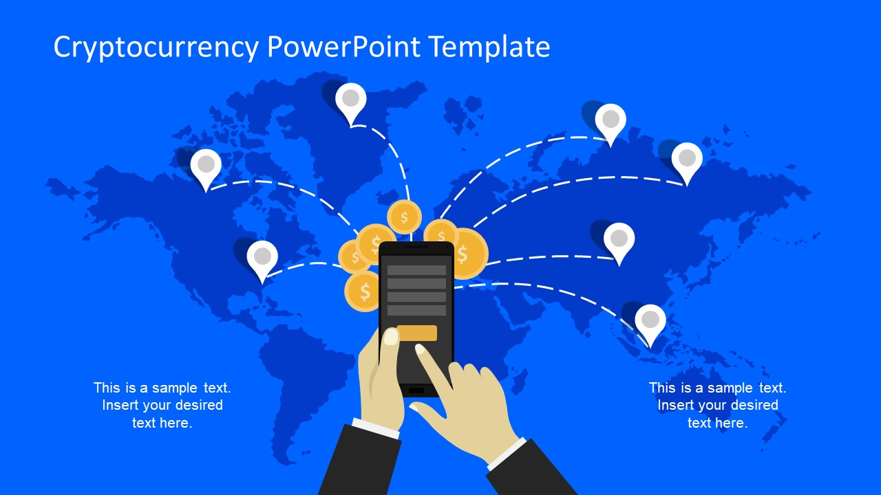 Technology powerpoint templates global network concept powerpoint templates world map background and digital currency toneelgroepblik