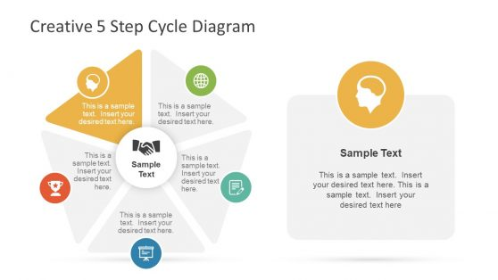 Infographic Slide of 5 Step Diagram