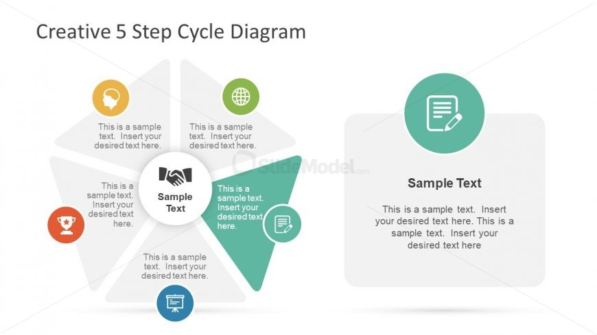 Vector Infographic Presentation of 5 Stages