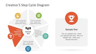Trophy Infographic on Triangle Shape Slide