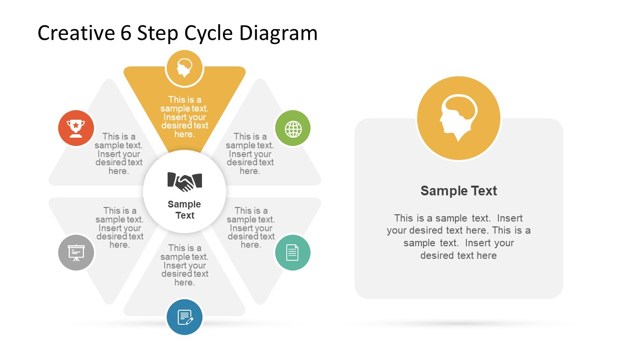 Infographic PowerPoint Triangle Segments