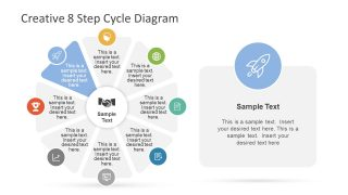Rocket Infographic 8 Stage Diagram Template
