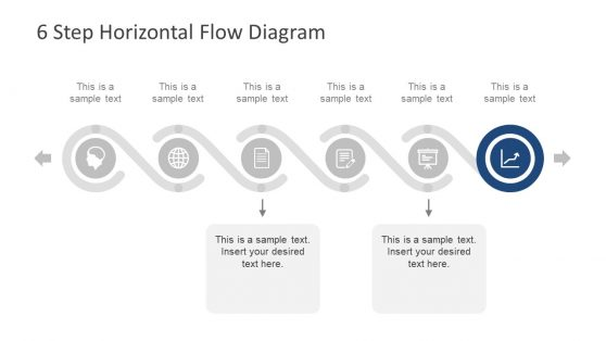 Horizontal Template Six Step Presentation