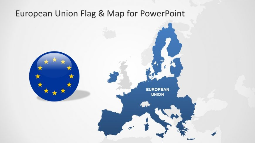 Slide of Flag and Map
