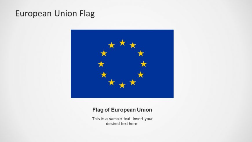 Flat Template of EU Flag