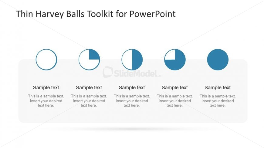 Clockwise Icons for Harvey Balls Presentation