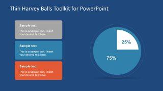 Percentage Pie Chart Shape of Harvey Balls