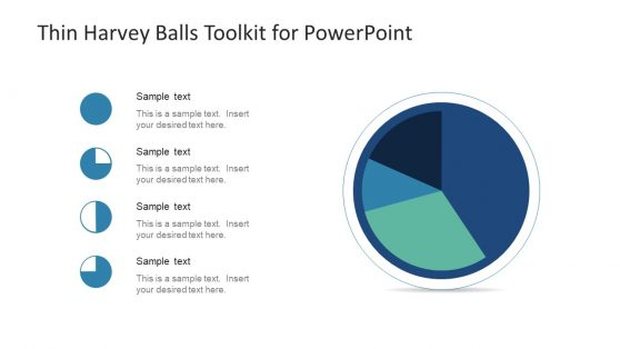 PowerPoint Design of Thin Harvey Balls
