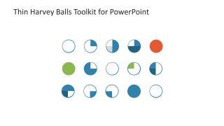 Vector Thin Harvey Ball Icons