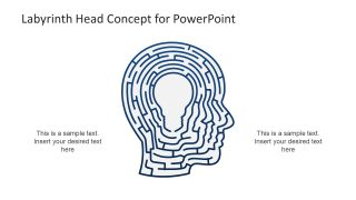 Labyrinth Head Concept PowerPoint Template