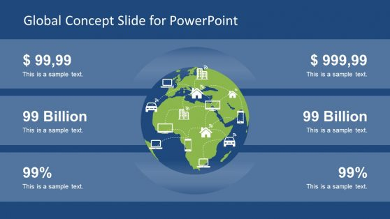 Global Map Slide of PowerPoint