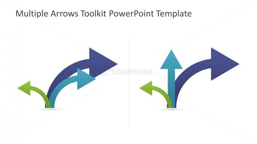 Flat Pointing Arrow Clip Art