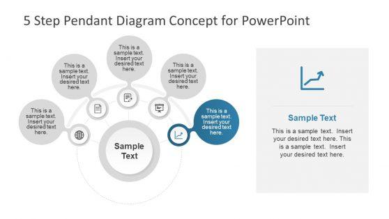 5 Step Process Flow Pendant Concept PPT
