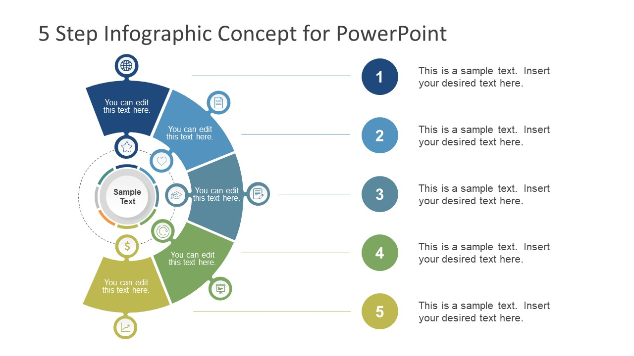5 whys template free download - 5 step infographic powerpoint template slidemodel