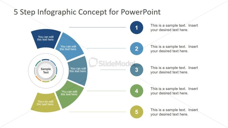 PowerPoint 5 Steps Infographic Design