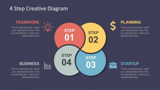 Infographic Template of 4 Step Diagram