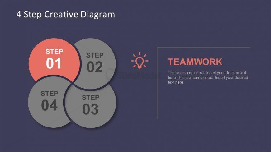 Flat Design Vector Template Process Flow
