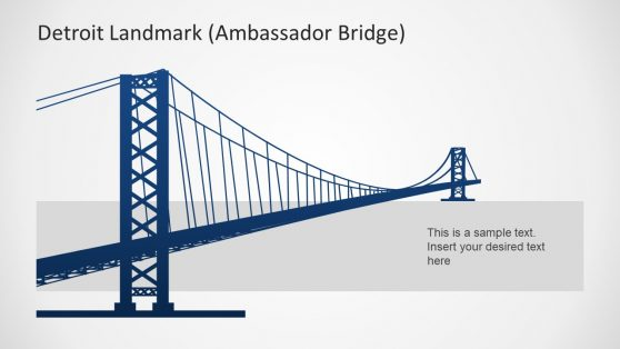 Ambassador Bridge Template of Detroit